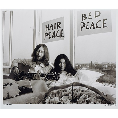 John Lennon Yoko Ono Bed In 2 Works By Nico Koster