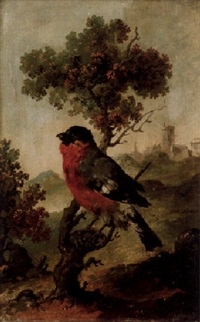 landskap med fågel på gren by carl gustaf quist