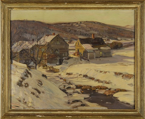 snow filled new england landscape by george gardner symons