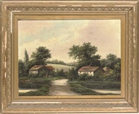 cottages by the river (+ returning home; pair) by r. percy