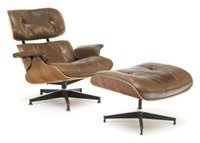 eames chair (+ ottoman; 2 pieces) by herman miller