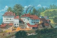 ansicht von schloss reichenbach mit brauereigespann by ferdinand corradi