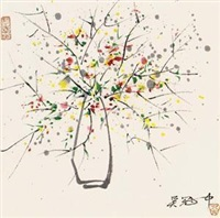 瓶花 by wu guanzhong