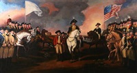 the surrender of lord cornwallis at yorktown, va, october 19, 1781 by john trumbull