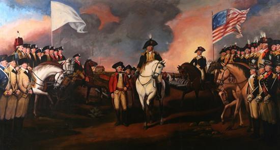the surrender of lord cornwallis at yorktown, va, october 19, 1781 by john trumbull
