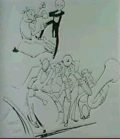 esquisse pour les illustrations du livre de marinetti les deux sen vont by valeri