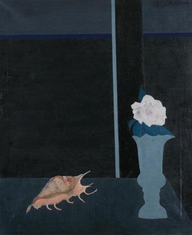 still life with sea shell by ilya bolotowsky