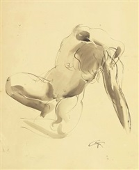 nude study by georg kolbe