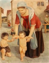 madonna mit kind und johannesknaben by charles-louis rivier