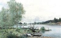 insjölandskap med eka by konrad simonsson