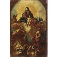 madonna col bambino e santi by francesco conti