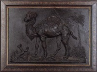camel in the desert by achille perelli