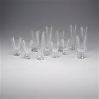 trinkglasservice patricia (set of 74) by wilhelm wagenfeld
