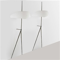 fine and large wall sconces (pair) by felix agostini