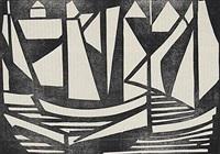 boote (+ waldweg; 2 works) by jacoba van heemskerck