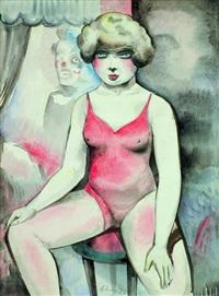 bildnis einer jungen artistin by alois erbach