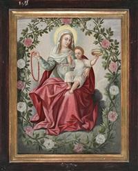 virgen del rosario by flemish school (17)