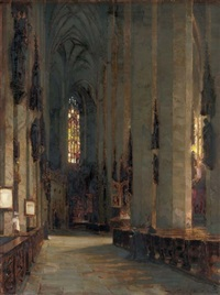 a church interior by rudolf huthsteiner
