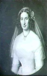 halbfigurenportrait einer eleganten jungen dame. by benjamin orth
