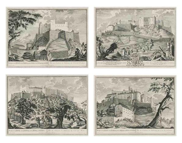 prospects of salzburg (set of 4) by johann august corvinus