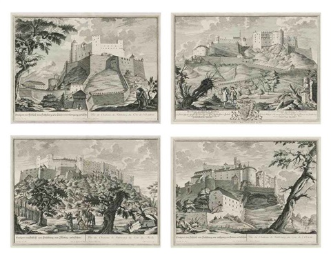 prospects of salzburg set of 4 by johann august corvinus