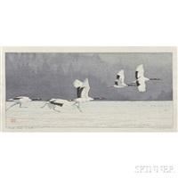 tancho crane by toshi yoshida