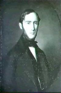 brustbild eines jungen mannes mit backenbart by benjamin orth