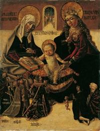 anna selbdritt, verbunden mit einer anbetung der könige by austrian school-tyrolean (15)