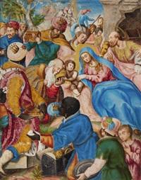 the adoration of the magi by giovanni di cristoforo (agosta) agosti