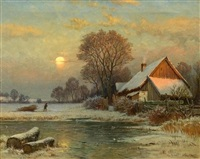 winterabend by paul weber