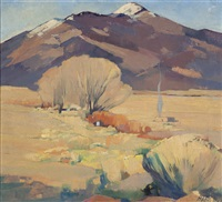 snow capped mountains, taos, n.m by hans paap