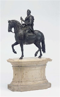 carlo emanuele i, duke of savoy on horseback (after the model attributed to susini) by antonio susini