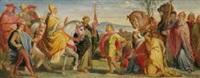 die begegnung kaiser heinrichs iv. mit papst gregor vii. in canossa by alfred rethel