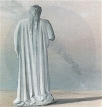 statue in a landscape by ruben rodriguez
