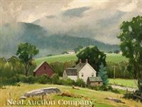 dorset, vermont after a rain storm by junius james allen