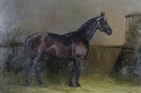 horse in a stable by edith a. simkins