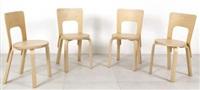 quattro sedie 65 by alvar aalto