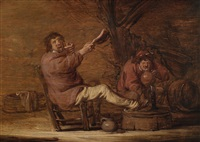 two peasants in a tavern by benjamin gerritsz cuyp