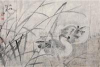 a pair of mandarin ducks by xu xiao bin