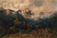 san juan mountain, estes park by charles partridge adams