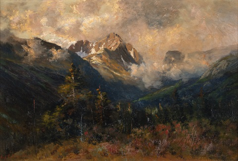 san juan mountain estes park by charles partridge adams