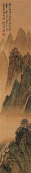 崇岗高阁图 (landscape) by ning dizhong
