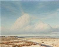 atmospheric desert landscape by clyde eugene scott