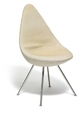 the drop (dråben) chair by arne jacobsen