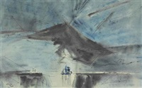 sailing ship under cloud by lyonel feininger