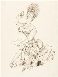 kokotte, auf einem mann reitend by richard ziegler