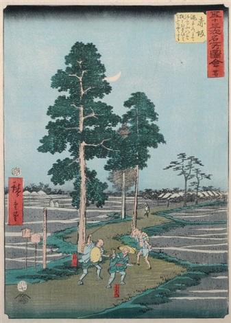 nr 27 akasaka from gojûsantsugi meisho zue ôban by ando hiroshige