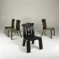 chippendale chairs (set of 4) by robert venturi