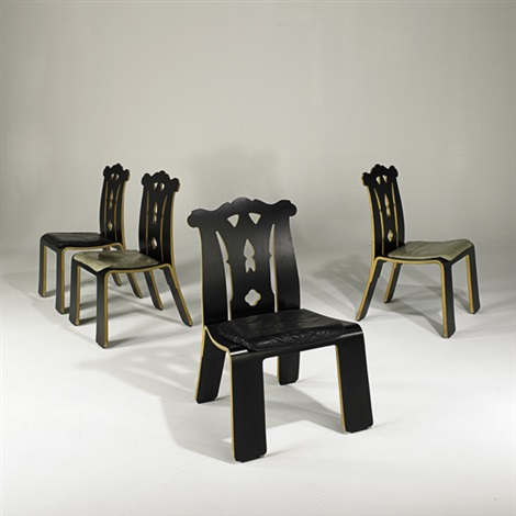 chippendale chairs set of 4 by robert venturi