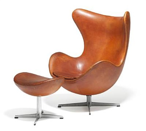 the egg chair model 3317 and 3127 pair by arne jacobsen